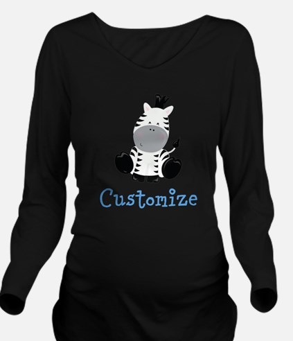 Baby Zebra Long Sleeve Maternity T-Shirt