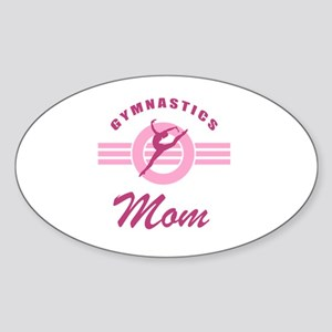 Gymnast Mom Sticker (Oval)