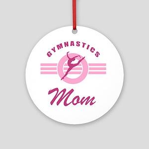 Gymnast Mom Round Ornament
