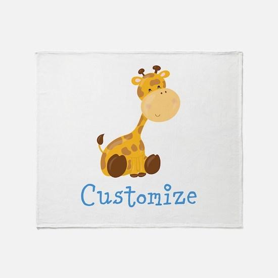 Custom Baby Giraffe Throw Blanket