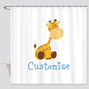 Custom Baby Giraffe Shower Curtain