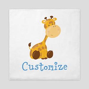 Custom Baby Giraffe Queen Duvet