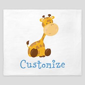 Custom Baby Giraffe King Duvet