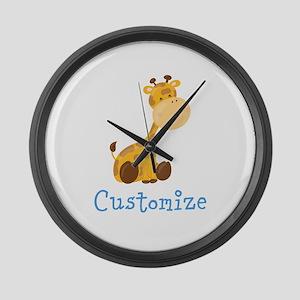 Custom Baby Giraffe Large Wall Clock