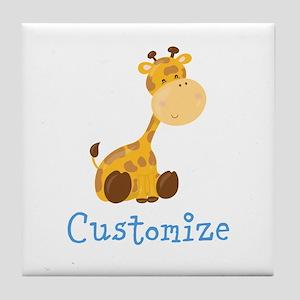 Custom Baby Giraffe Tile Coaster