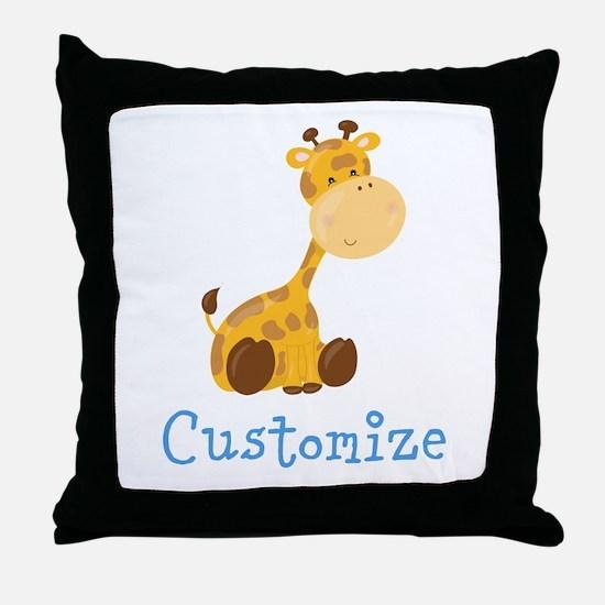 Custom Baby Giraffe Throw Pillow