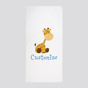 Custom Baby Giraffe Beach Towel
