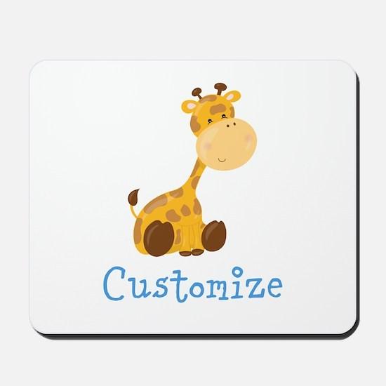 Custom Baby Giraffe Mousepad