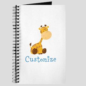 Custom Baby Giraffe Journal