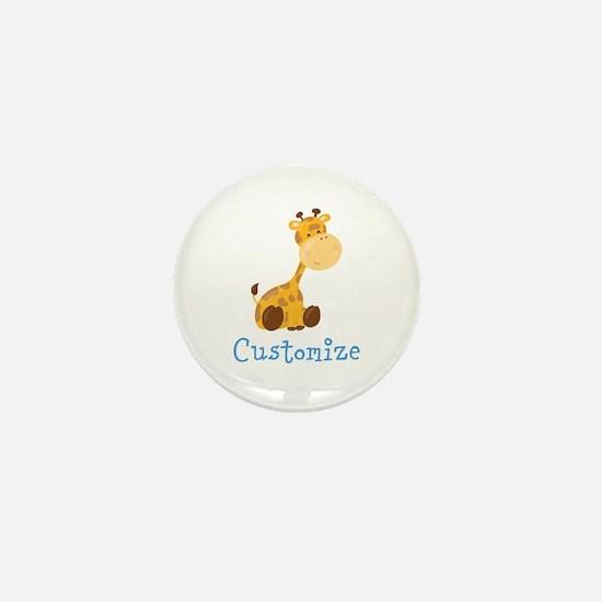 Custom Baby Giraffe Mini Button
