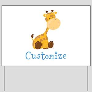 Custom Baby Giraffe Yard Sign