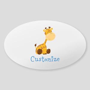 Custom Baby Giraffe Sticker (Oval)