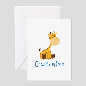 Custom Baby Giraffe Greeting Card
