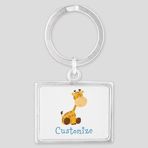 Custom Baby Giraffe Landscape Keychain