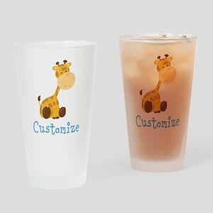 Custom Baby Giraffe Drinking Glass