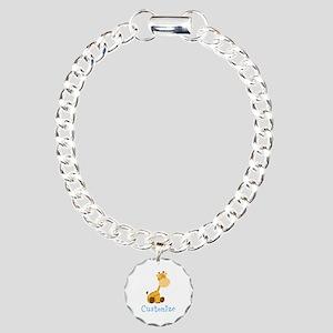 Custom Baby Giraffe Charm Bracelet, One Charm