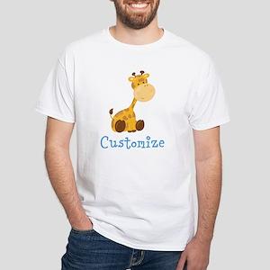Custom Baby Giraffe White T-Shirt