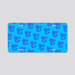 Blue Spotted Lobster Crusta Aluminum License Plate
