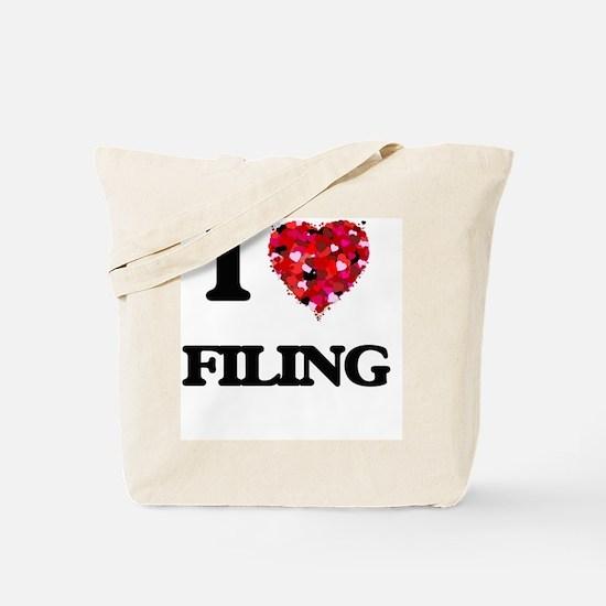 I love Filing Tote Bag
