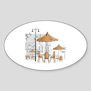 Coffee Shop Sticker (Oval)