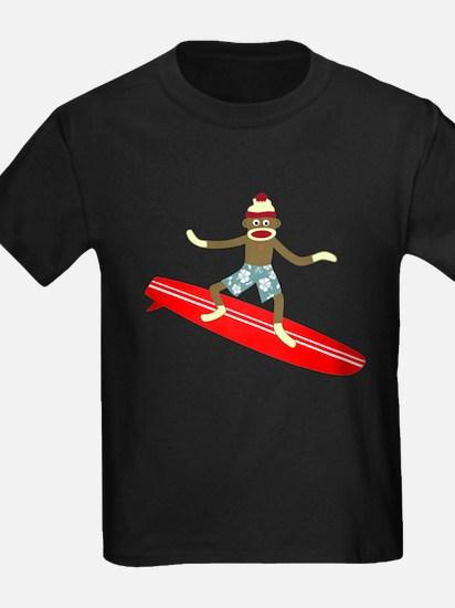 Sock Monkey Longboard Surfer T