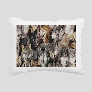 Wolves Rectangular Canvas Pillow