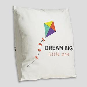 Dream Big Burlap Throw Pillow