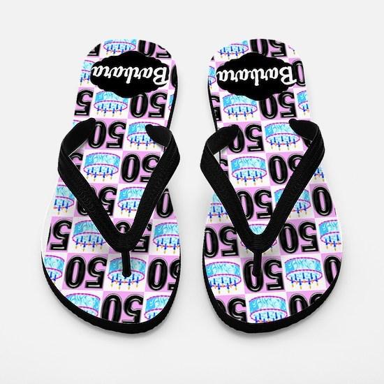 Fun Festive 50th Flip Flops