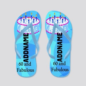 Pretty Blue 60th Flip Flops