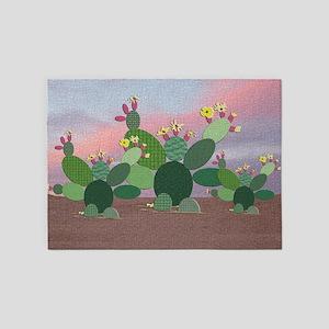 Calico Cactus 5'x7'area Rug