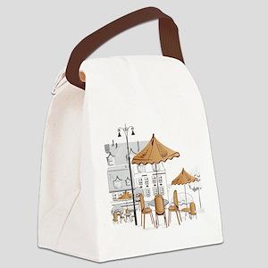 Coffee Shop Canvas Lunch Bag