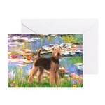 Lilies#2 & Airedale (S) Greeting Cards (Pk of 20)