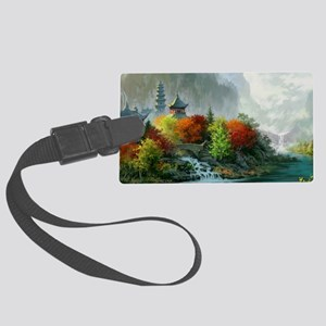 Japan Landscape Painting Luggage Tag