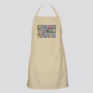 Old Canadian Stamps Apron