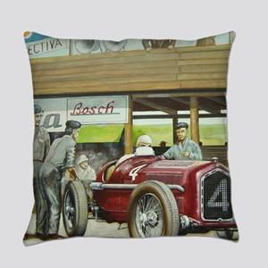 Vintage Car Racing Everyday Pillow