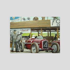 Vintage Car Racing 5'x7'Area Rug