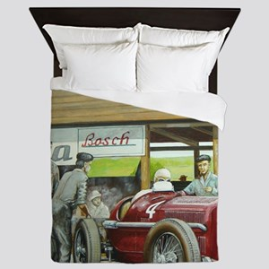 Vintage Car Racing Queen Duvet