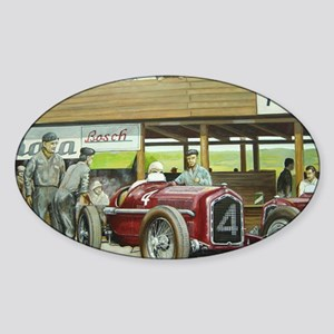 Vintage Car Racing Sticker