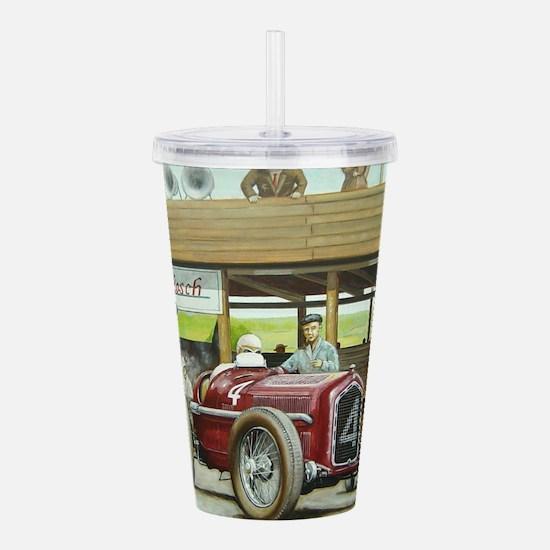 Vintage Car Racing Acrylic Double-wall Tumbler