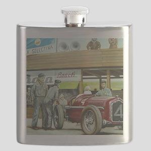 Vintage Car Racing Flask