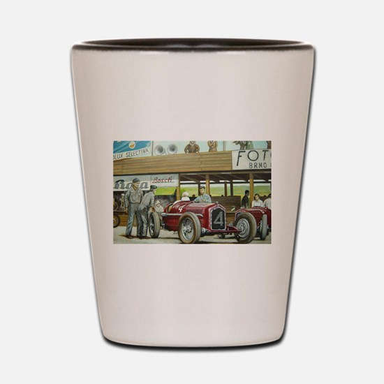 Vintage Car Racing Shot Glass