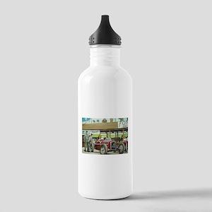 Vintage Car Racing Water Bottle