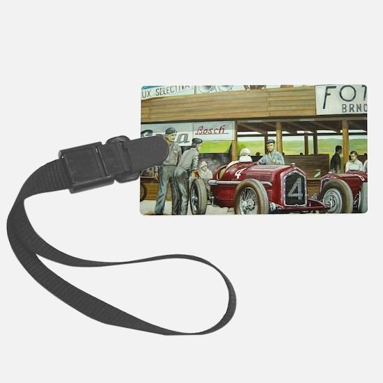 Vintage Car Racing Luggage Tag