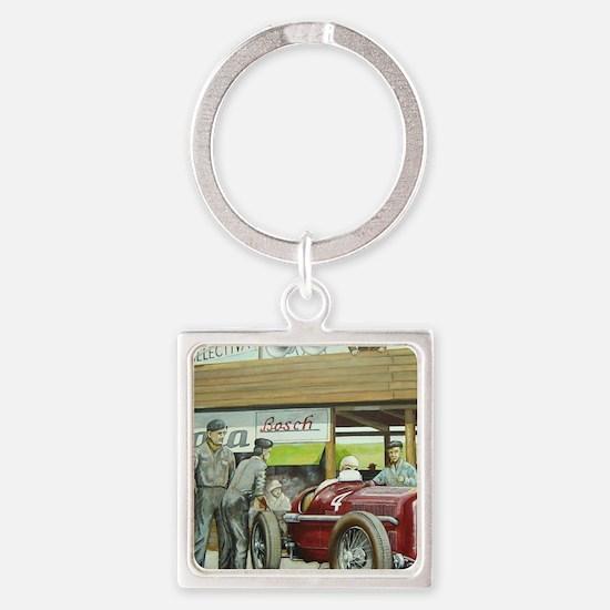 Vintage Car Racing Keychains