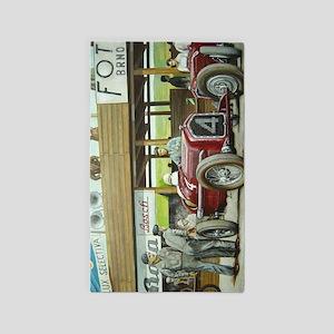 Vintage Car Racing Area Rug