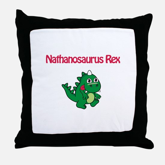 Nathanosaurus Rex Throw Pillow