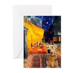 Cafe - Airedale (S) Greeting Cards (Pk of 20)