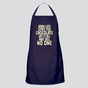 When Life hands You Chocolate Apron (dark)