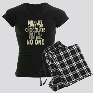 When Life hands You Chocolat Women's Dark Pajamas
