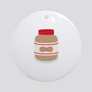 Peanut Butter Jar Ornament (Round)